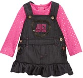 Juicy Couture Foil Dot Tee & Denim Jumper Set (Baby Girls)