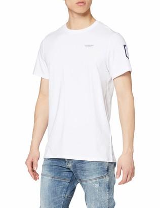 G Star Men's Sleeve Shield Print Straight T-Shirt