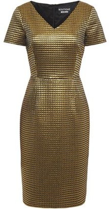 Boutique Moschino Quilted Lame Dress