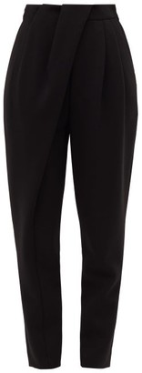 Proenza Schouler Pleated-waist Draped Tailored Trousers - Womens - Black