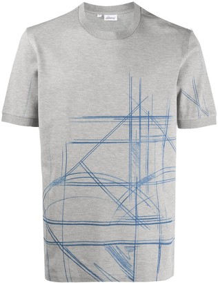 Brioni Abstract Print T-Shirt