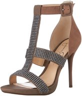 Jessica Simpson Women's Barerra T Strap High Heel with Jewels