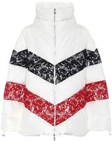 Moncler Gamme Rouge Oversized lace-trimmed down jacket