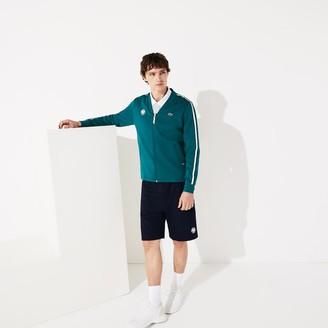 Lacoste Men's SPORT Roland Garros V-Neck Zip Sweatshirt