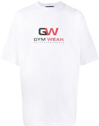Balenciaga Gym Wear large fit T-shirt