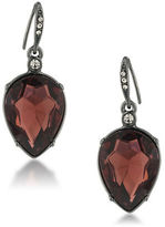 ABS by Allen Schwartz Hematite-Tone Pear Drop Earrings
