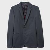 Paul Smith Men's Slim-Fit Steel Grey Stretch-Cotton Blazer