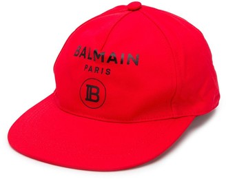 Balmain Kids logo cap