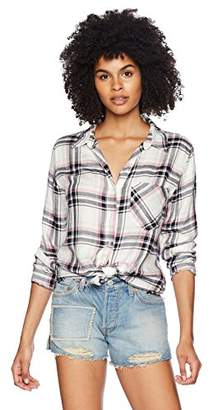 Silver Jeans Co. Women's Stevie Frayed Plaid Shirt