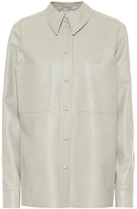 Stella McCartney Hattie faux leather shirt