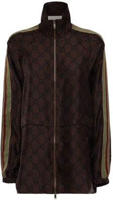 Gucci Gg Supreme Printed Silk Twill Jacket
