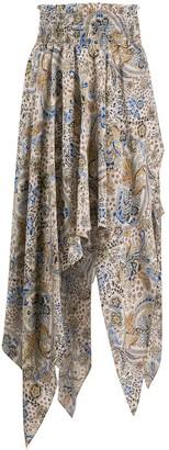 Redemption Silk Paisley Print Skirt
