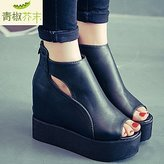 SOFIAMORE? Women's Peep Toe Wedge Heel Platform Sandals Shoes