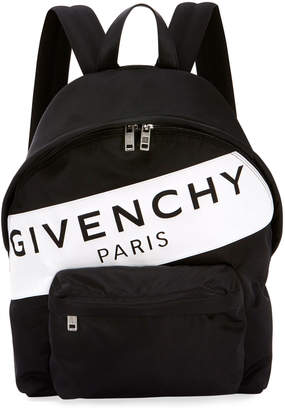 Givenchy Men's Urban Logo Nylon Zip-Around Backpack