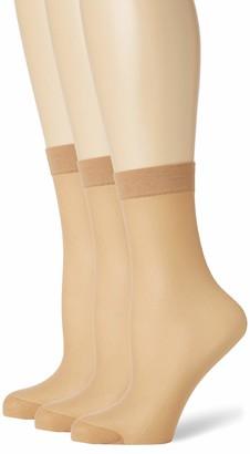 Pretty Polly Women's Comfort Top Ankle Highs 3PP Socks 15 DEN