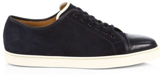 John Lobb Levah Cap-Toe Suede Sneakers