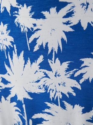 Very Channel Waist Jersey Beach Maxi Dress - Blue Print