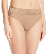 Warner's Women's No Pinching No Problem Hi Cut Brief Panty with Lace