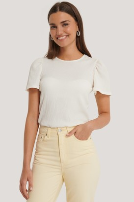 NA-KD Puff Sleeve Crepe Top