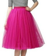SK Studio Women's Short Vintage Petticoat Skirt Ballet Bubble Tutu Multi-colored