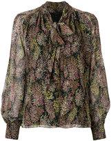 Giambattista Valli patterned pussy bow blouse