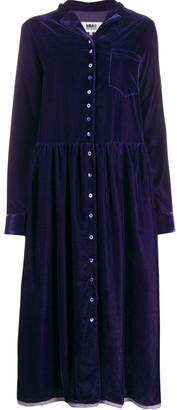 MM6 MAISON MARGIELA velvet shirt dress
