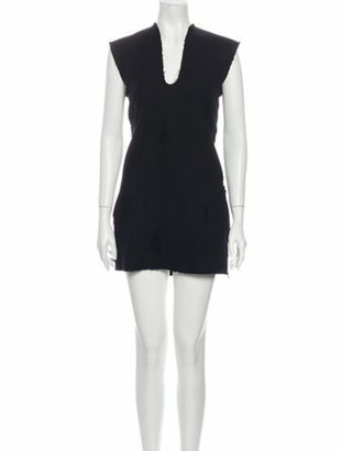 Alexander Wang V-Neck Mini Dress Black