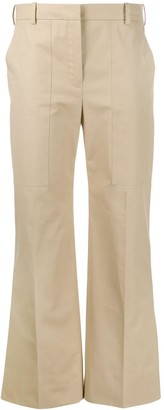 Nina Ricci Front Pleated Side Slit Trousers