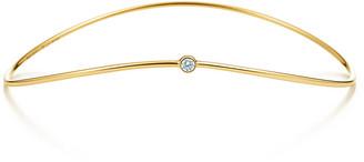 Tiffany & Co. Elsa Peretti Wave single-row diamond bangle in 18k gold, medium