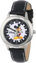 Disney Kids' W000021 Mickey Mouse Stainless Steel Time Teacher Watch