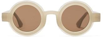 Kuboraum Round Matte-acetate Sunglasses - Beige