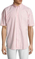 Zanerobe Men's Striped Rugger Cotton Sportshirt