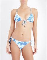 Seafolly Caribbean Ink triangle bikini top