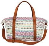 Mossimo Women's Global Print Weekender Handbag Cream