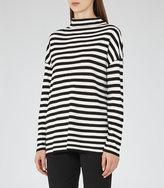 Reiss Annora Striped High-Neck Jumper