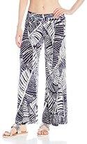 J Valdi Women's Printed Foldover Pant