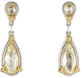Judith Ripka Canary Crystal & Diamond Drop Earrings