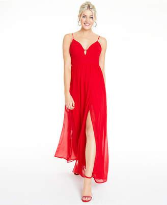 City Studios Juniors' Chiffon A-Line Gown