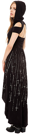 Cult The Occult Cross Hooded Maxi Dress