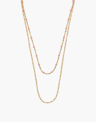 Madewell Enamel Bead Chain Necklace Set