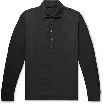 120% Garment-Dyed Linen Polo Shirt