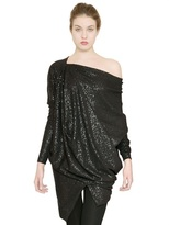 Vivienne Westwood Draped Stretch Sequinned Jersey Dress