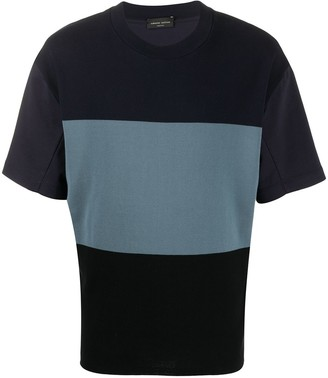 Roberto Collina colour-block short sleeve T-shirt