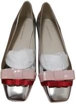 Sophia Webster Silver Patent leather Ballet flats
