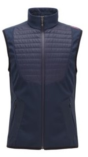 HUGO BOSS Water-repellent lightweight gilet with padded panels
