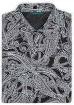 Perry Ellis Large Scale Paisley Print Shirt