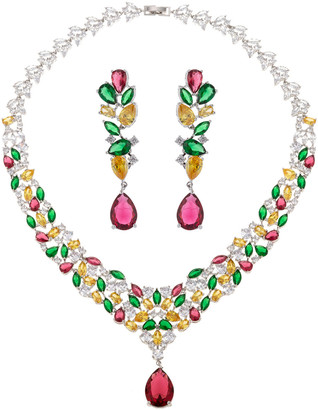 Eye Candy Los Angeles Luxe Collection Cz Kate Necklace & Earrings Set