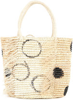 Sensi Studio - Polka dots tote bag - women - Straw - One Size