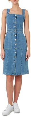 Outland Denim Button Front Stretch Organic Cotton Dress