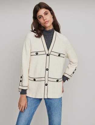 Maje Tweed-style contrast jacket